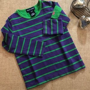 Ralph Lauren Purple and Green Striped Top Size 24M